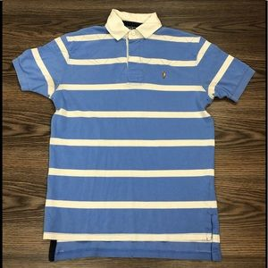 Polo Ralph Lauren Blue Stripe Quilted Rugby Shirt